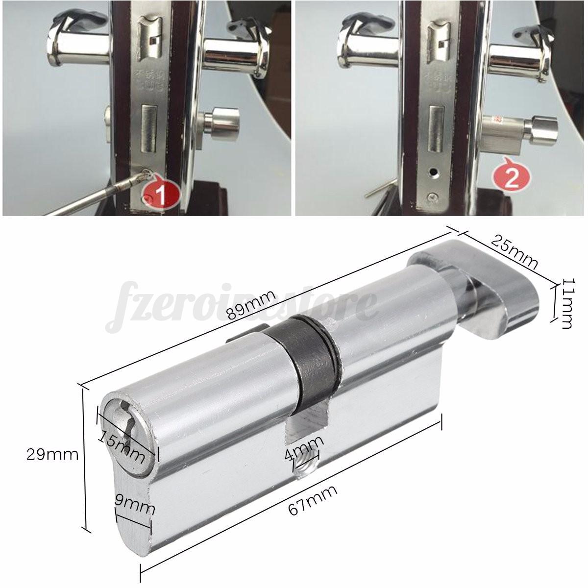 Home Security Sliding Screen Gate Door Lock Code Cylinder Hardware W