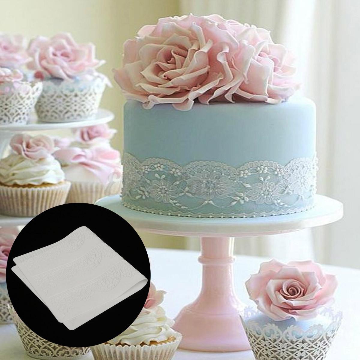 Silicone Flower Lace Wedding Fondant Mould Baking Cake