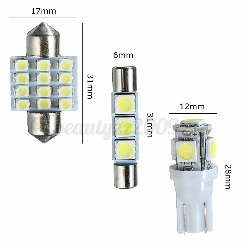 14pcs white led dome map light interior package kit for honda accord 2002 2014 ebay for 2014 honda accord interior lights