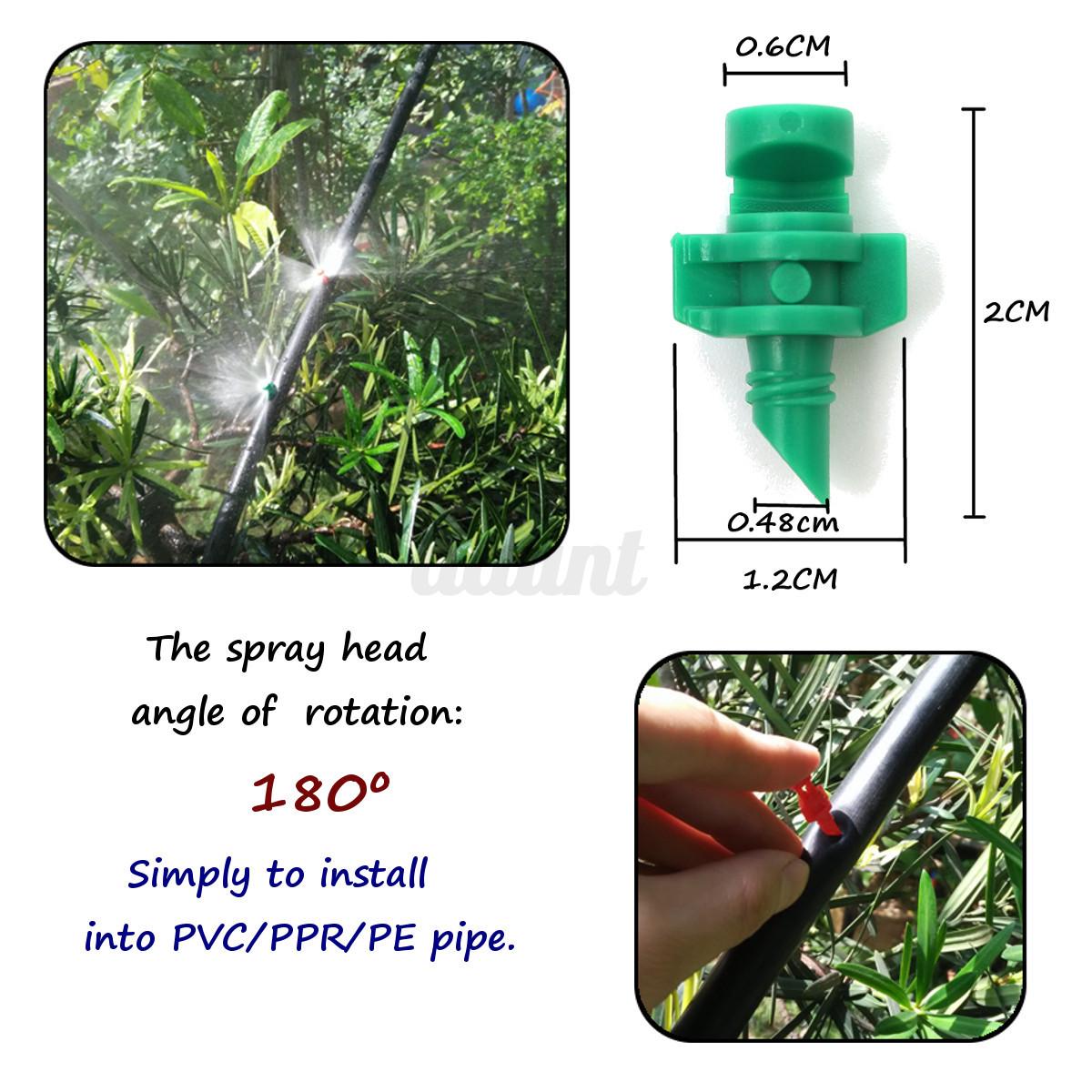 Micro garden lawn water spray misting nozzle sprinkler