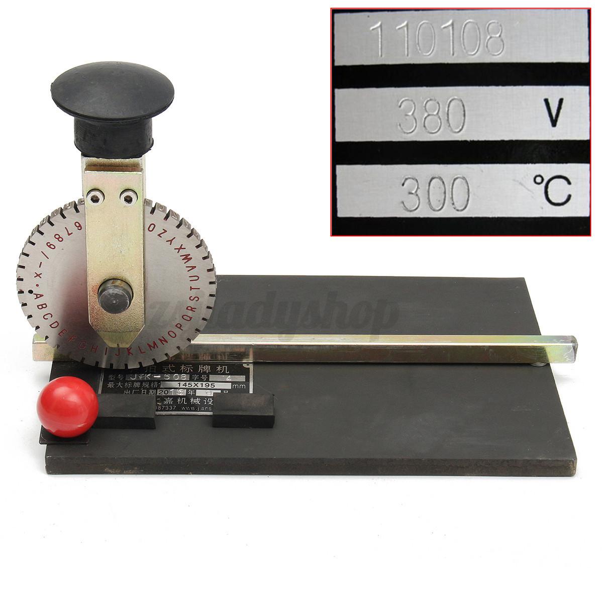 manual metal tag embossing machine