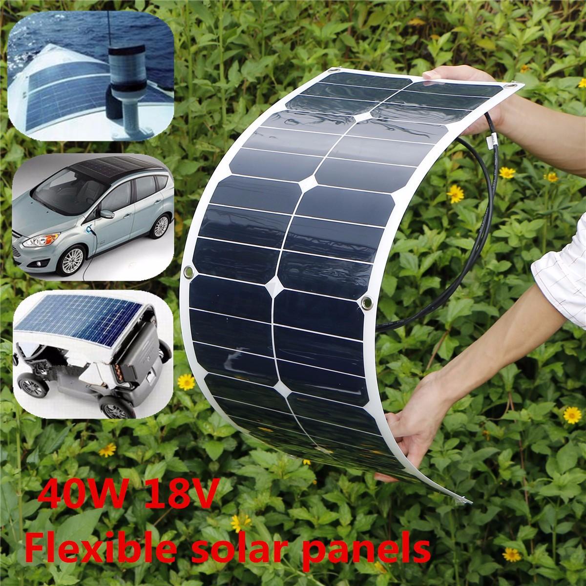 Elfeland 40w 18v flexible mono solar panel battery charger for Chauffer une piscine solaire