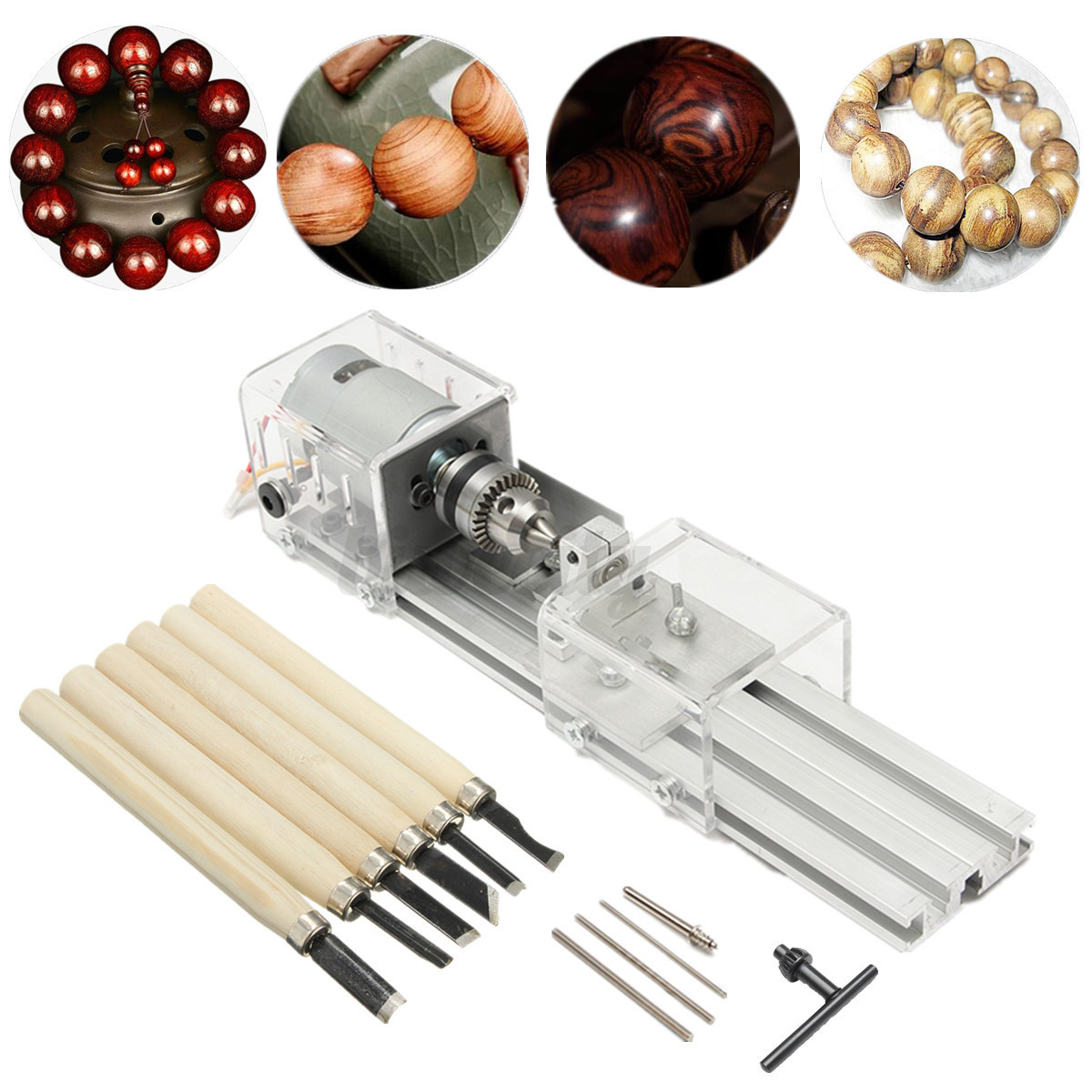 ... Bead Lathe Machine Polisher DIY Woodworking Cutting Rotary Tool | eBay