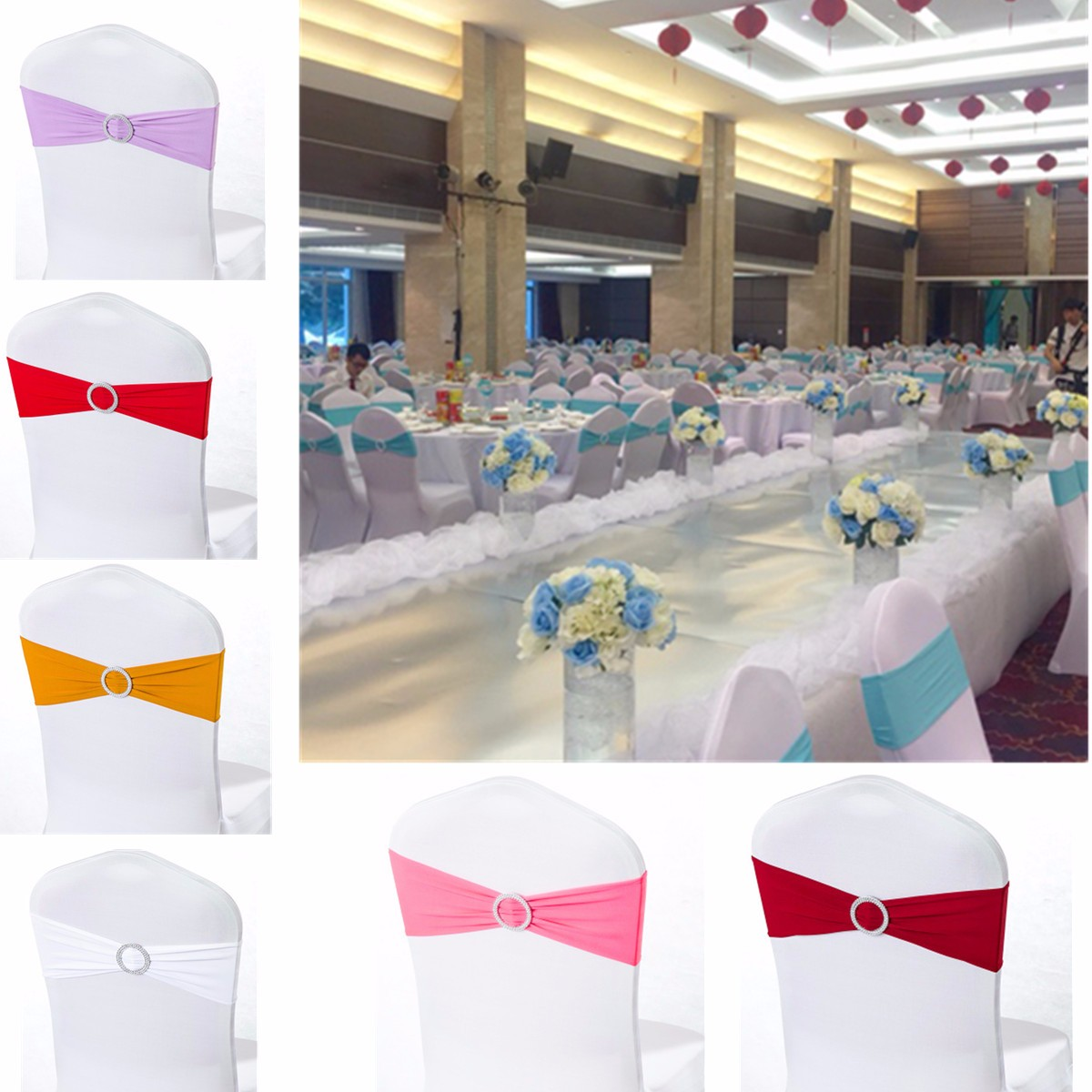 Folding chair covers wholesale under 1 - Wholesale 1 50 100 Stretch Wedding Chair Cover