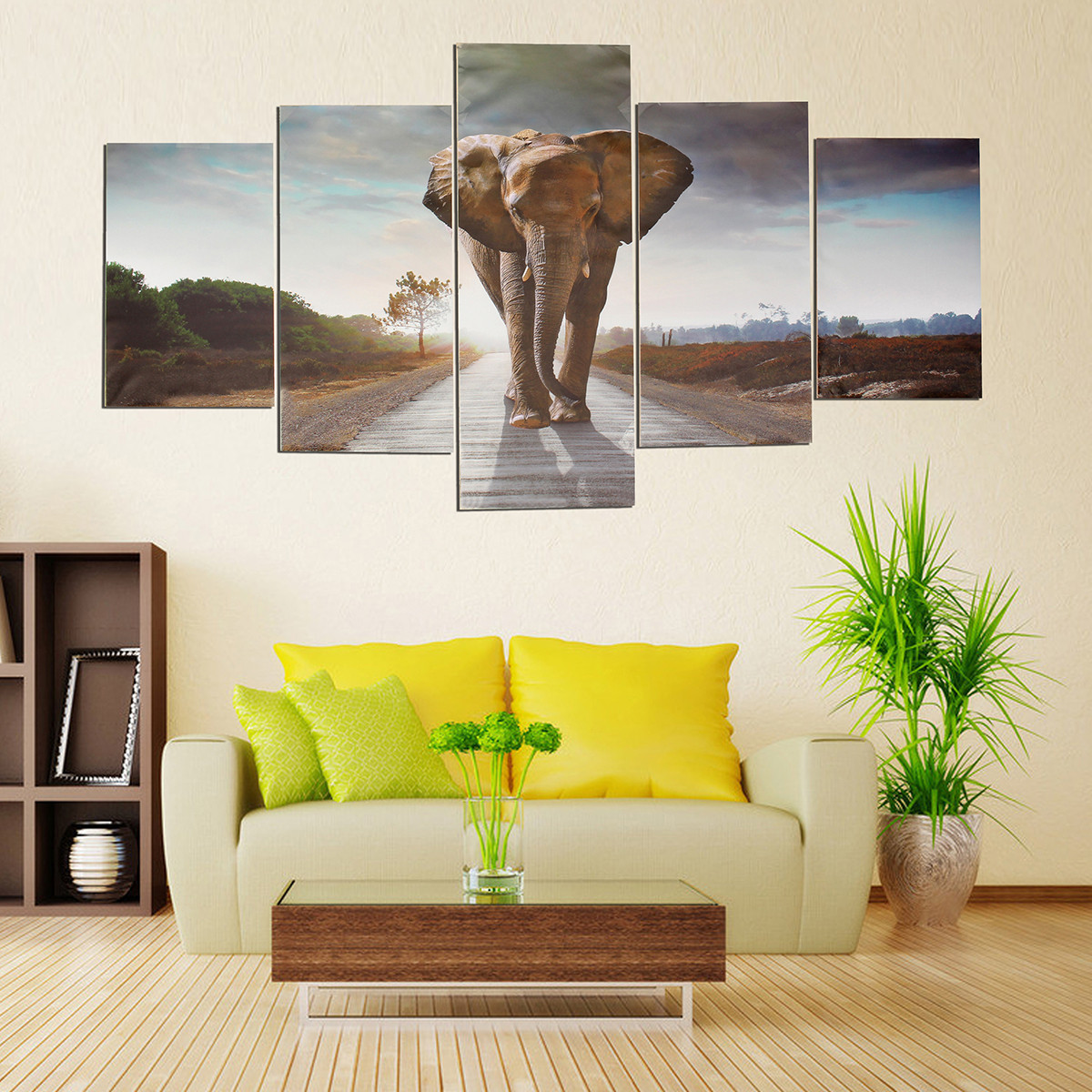 Details About 5pcs Elephant Painting Abstract Canvas Wall Art Poster Home Decor Unframed
