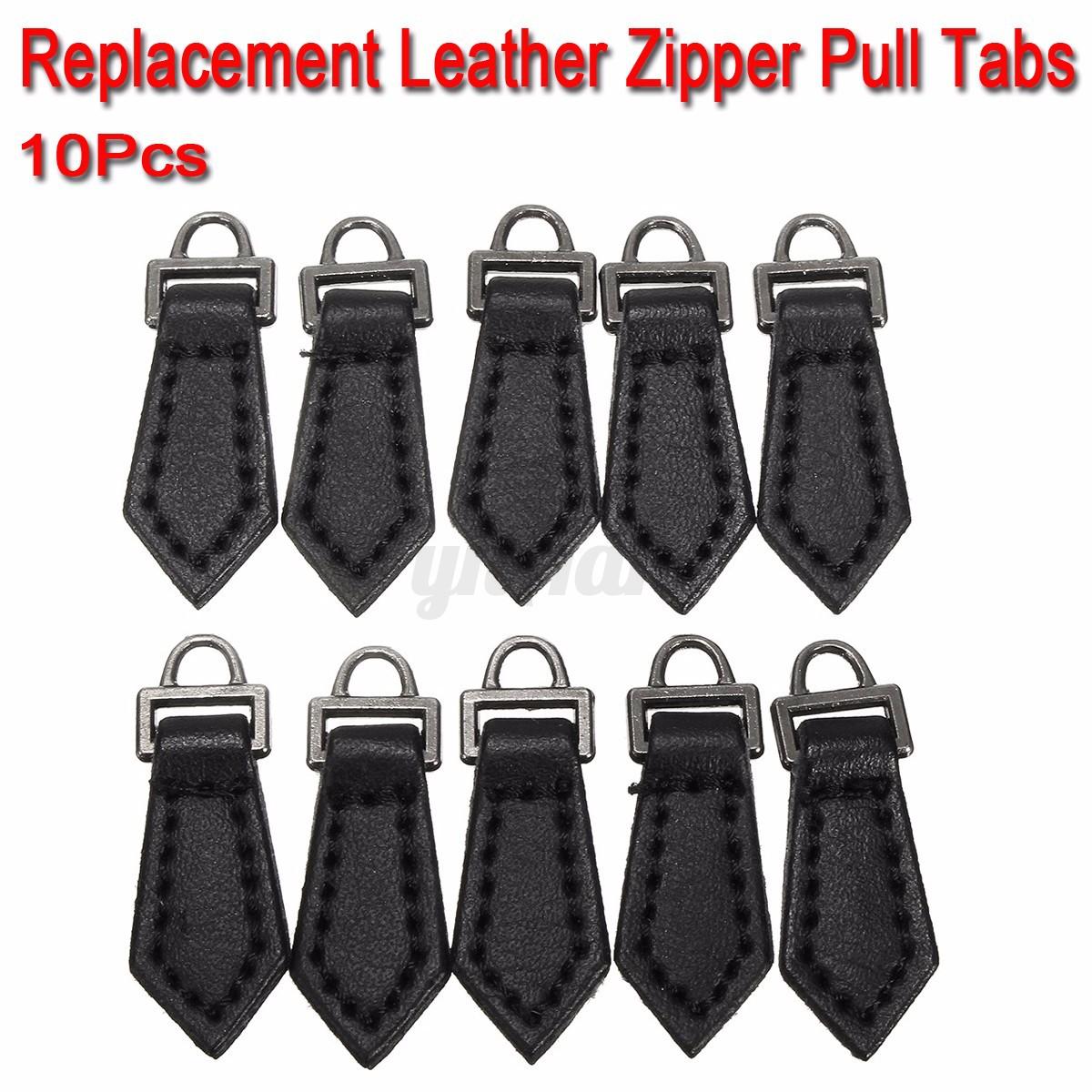 Leather jacket zipper pulls