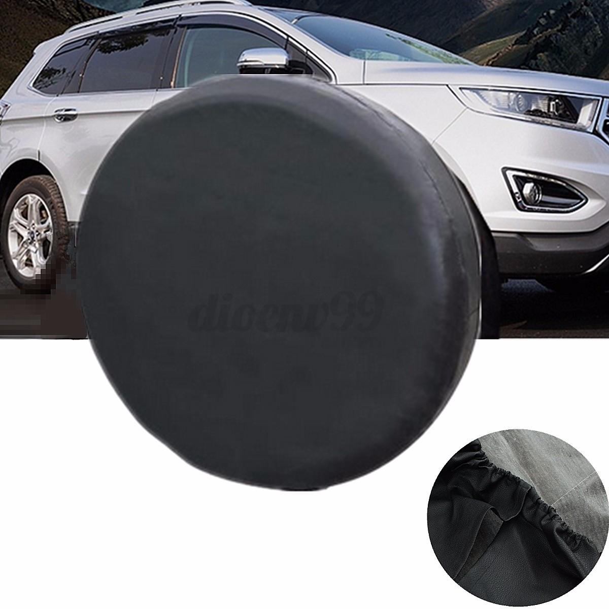 au different sizes spare tire cover car tyre diameter weather resistant wheel ebay. Black Bedroom Furniture Sets. Home Design Ideas