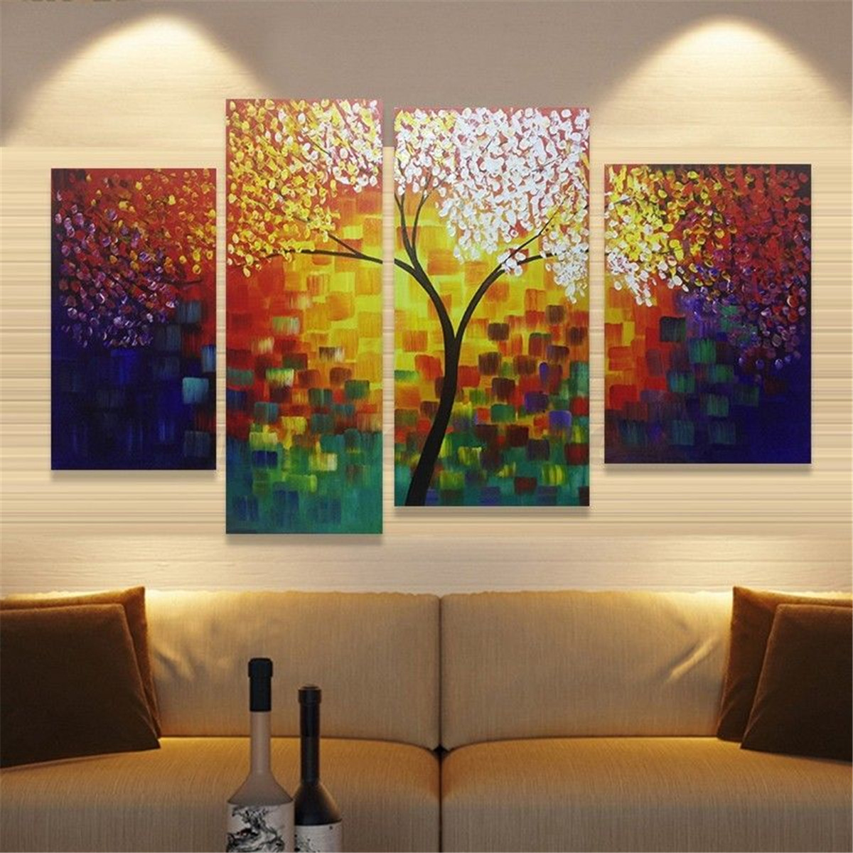 Modern abstract canvas print painting picture wall mural for Decorative mural painting