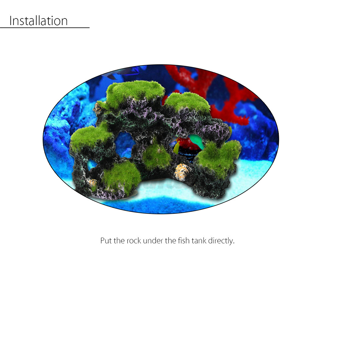 New aquarium mountain rockery coral reef rock cave moss for Aquarium mountain decoration