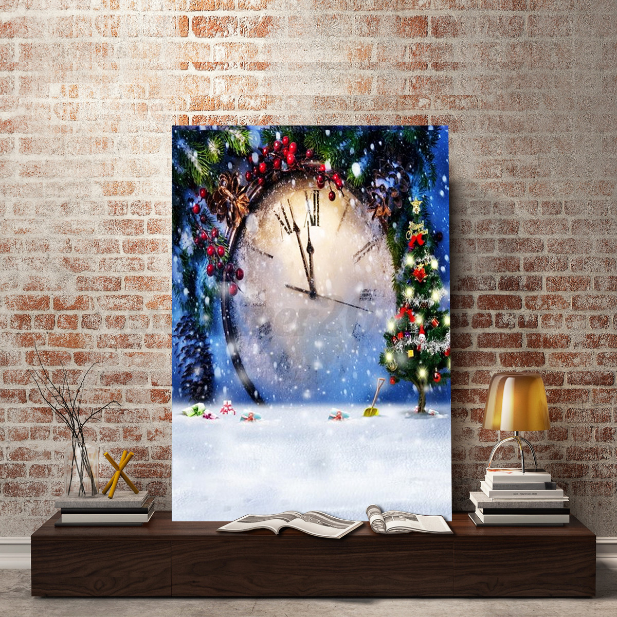 Diy 5d diamond painting winter christmas embroidery cross for Decoration kit