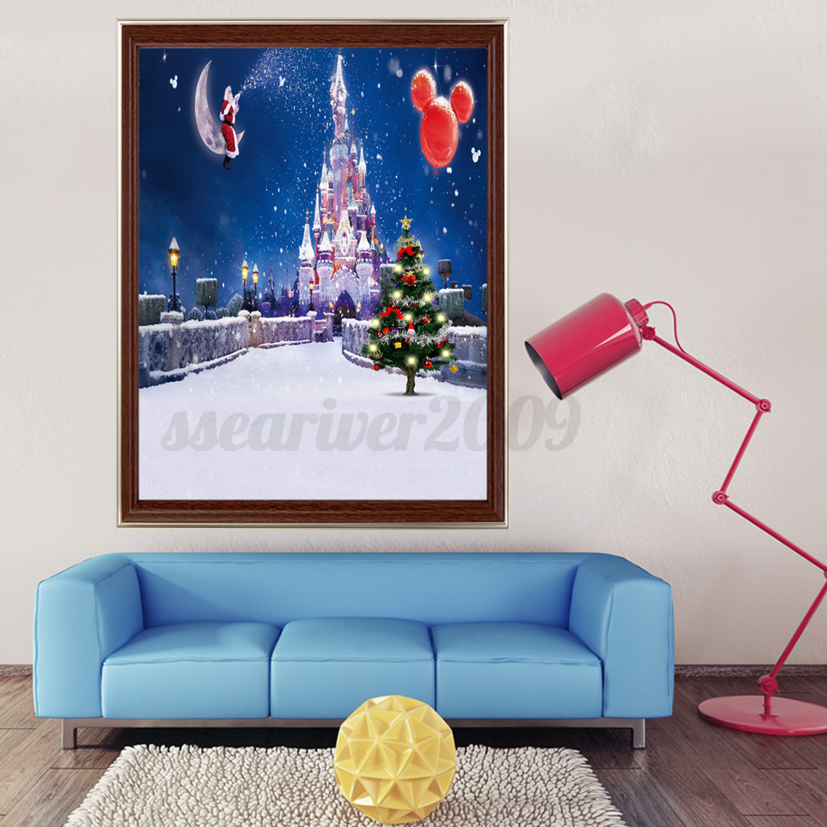 Diy 5d diamond painting winter christmas embroidery cross for Home decor 5d