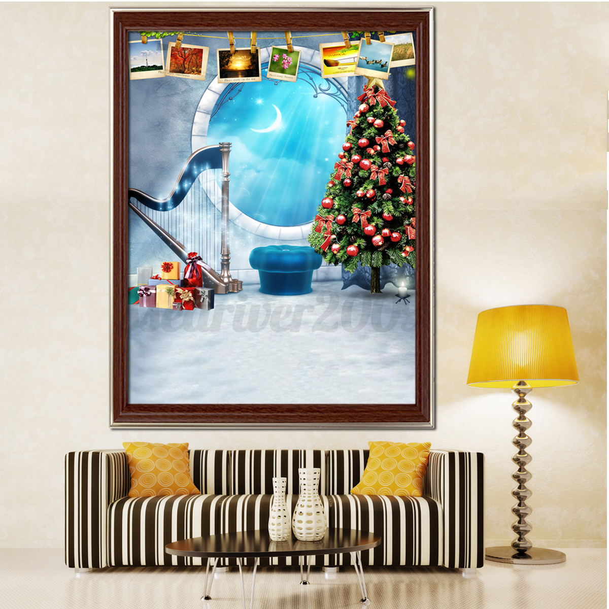 Diy 5d Diamond Painting Winter Christmas Embroidery Cross Stitch Home Decor Kit Ebay