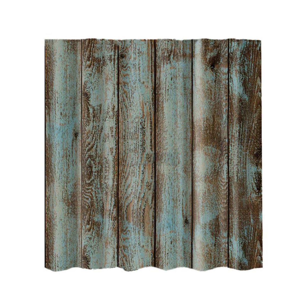 12 Hooks Shabby Wood Waterproof Polyester Fabric Shower Curtain Bathroom Sheer Ebay