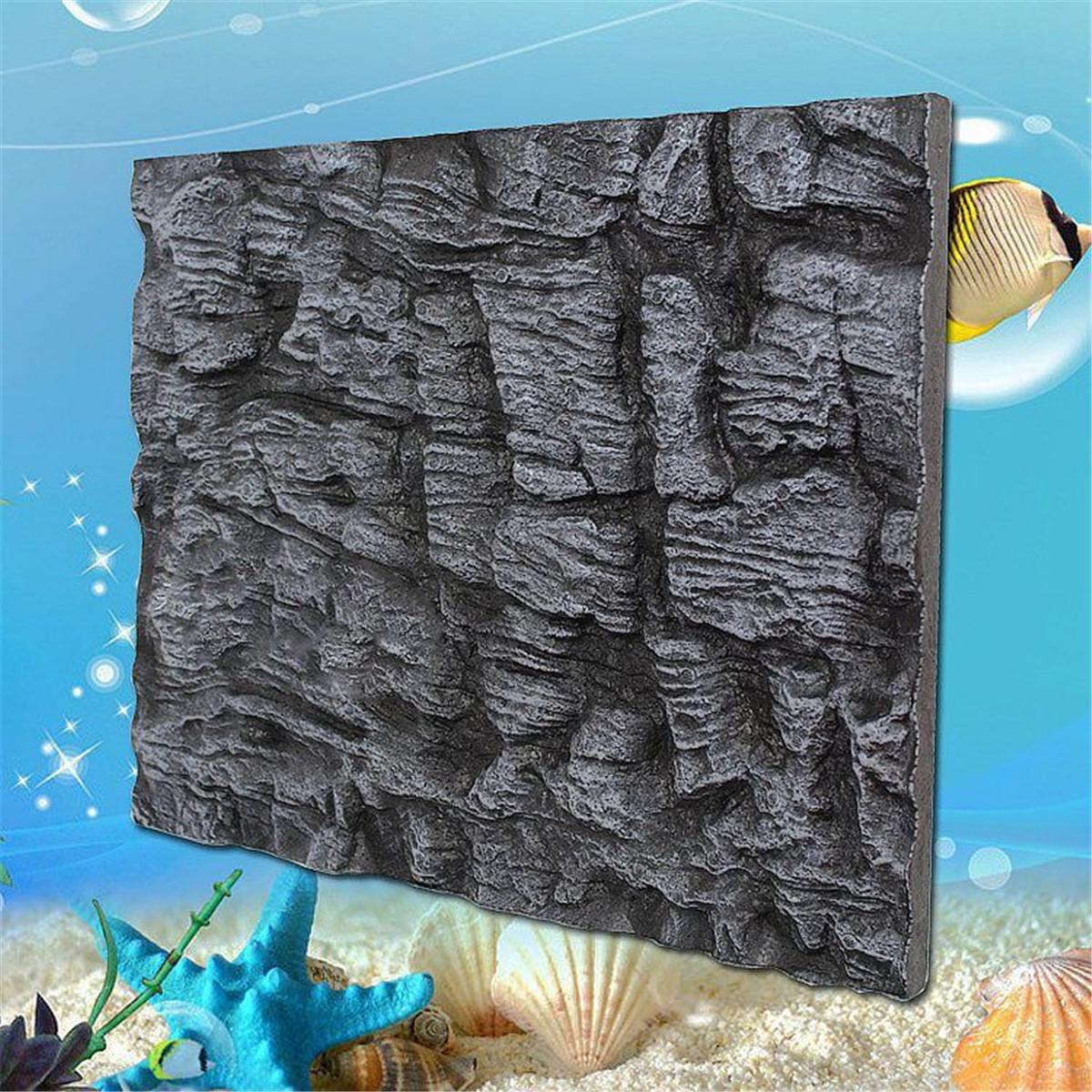 3D-Aquarium-Plaque-de-Fond-Background-Poisson-Roche-Rampant-Fish-Tank-Ornement