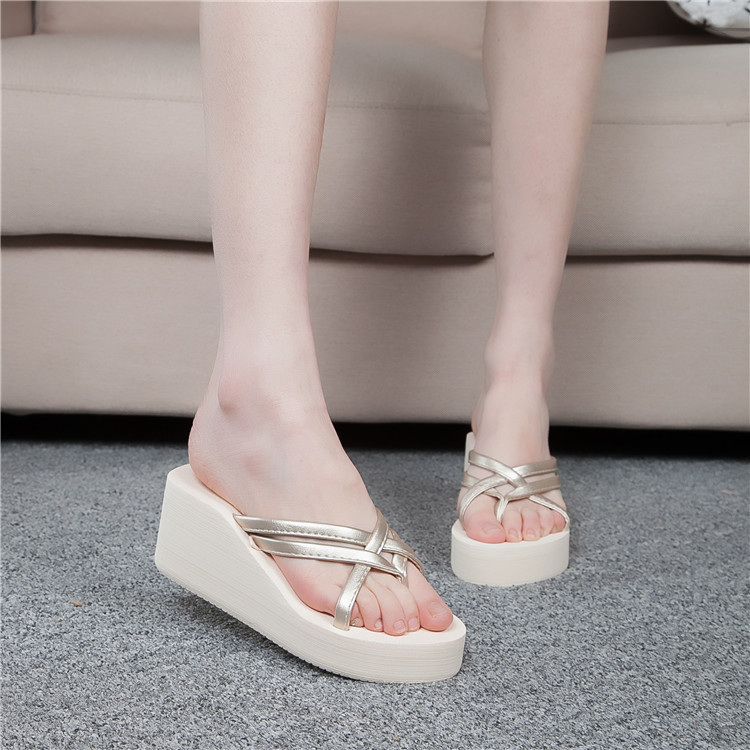 Womens Thong Strap Flip Flops High Heel Slippers Platform Summer Wedge Sandals  Ebay-7173