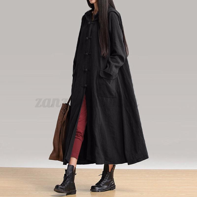 ZANZEA-AU-8-24-Women-Vintage-Long-Sleeve-Coat-Jacket-Cardigan-Kaftan-Maxi-Dress