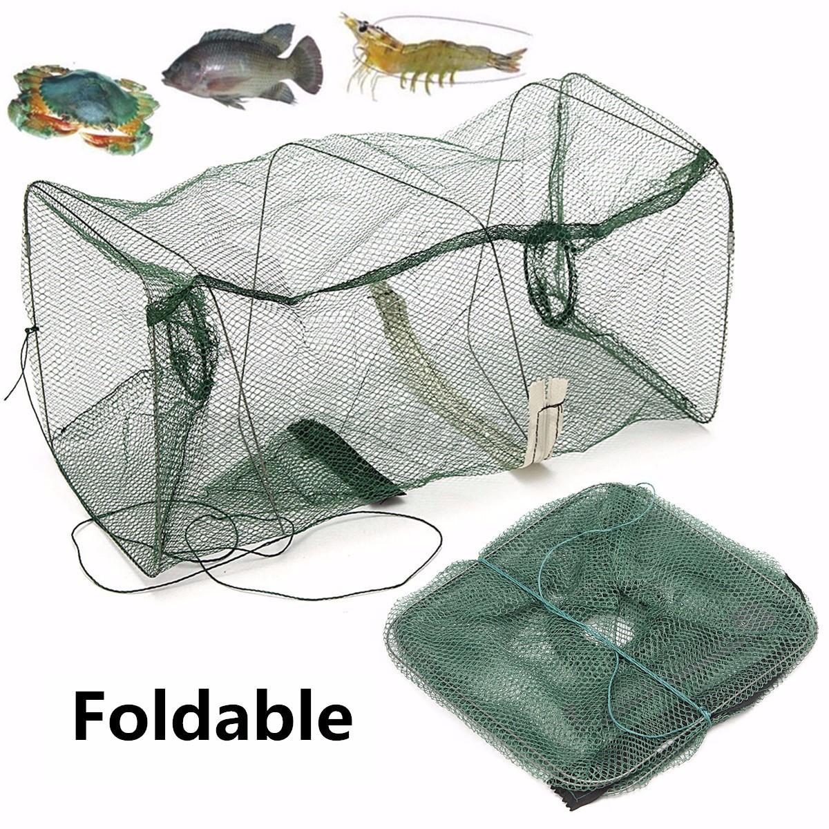 Fishing bait trap fish net cast dip cage crab crawdad for Bait fish trap