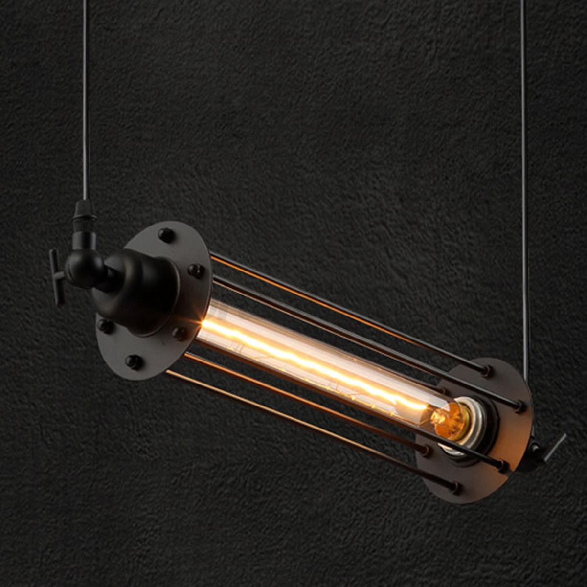 Industrial Vintage Flute Pendant Lamp Kitchen Bar Hanging
