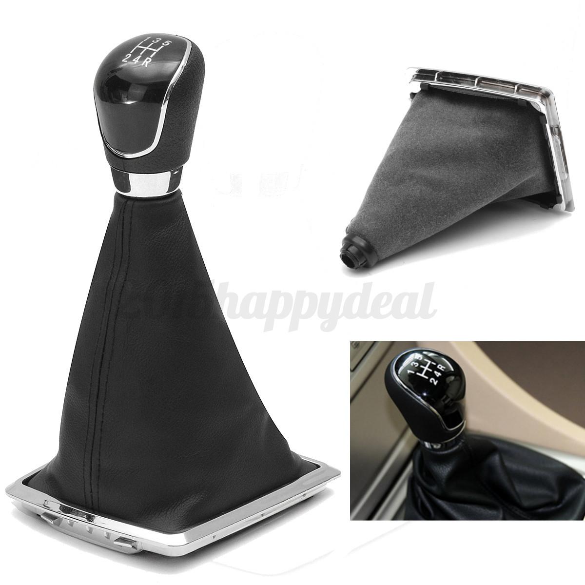 5 Speed Gear Shift Knob Stick Lever Gaitor Gaiter Boot