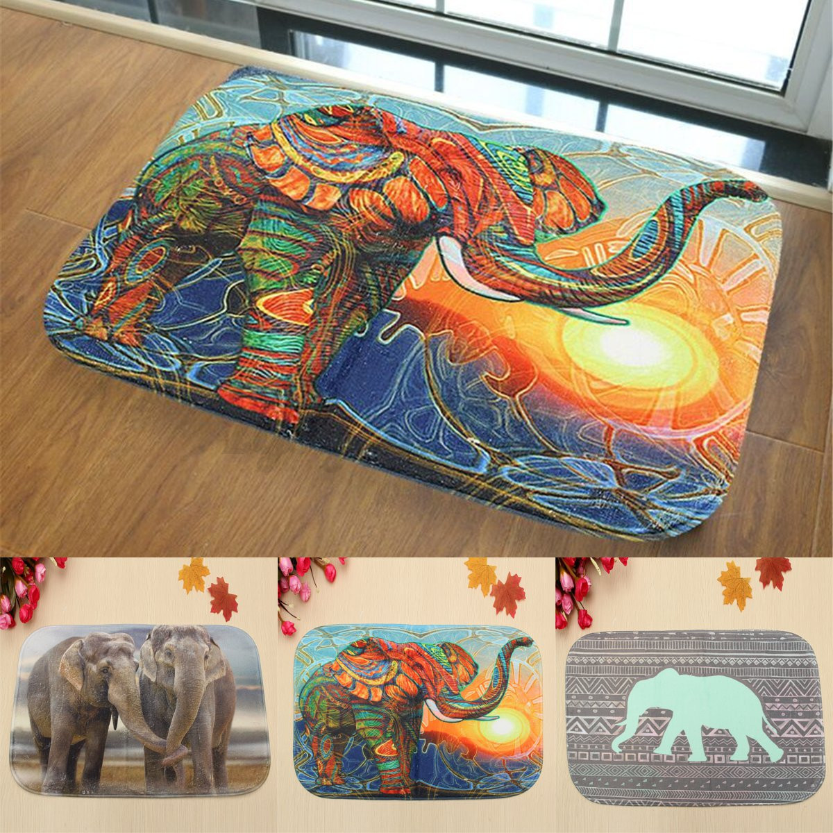Image Is Loading 3D Animal Non Slip Absorbent Elephant Bath Bathroom