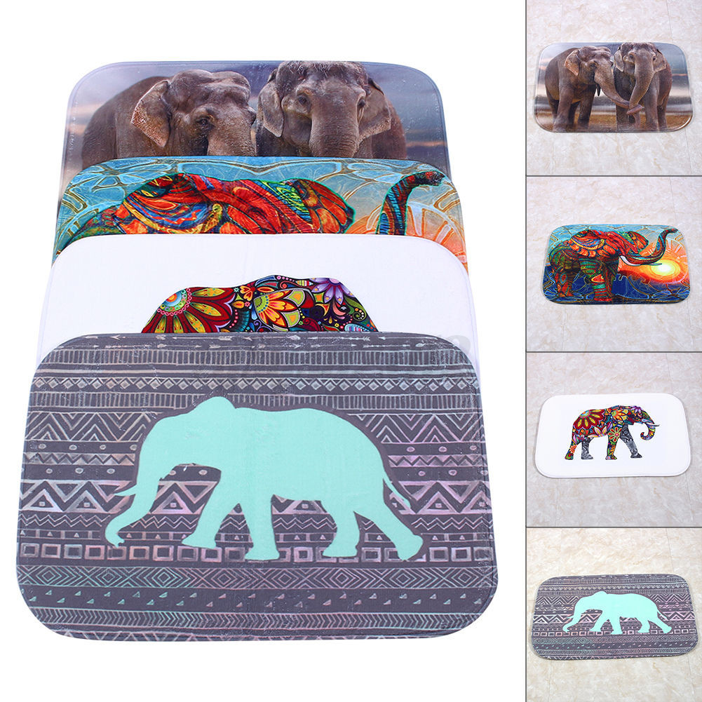 3D Animal Non Slip Absorbent Elephant Bath Bathroom