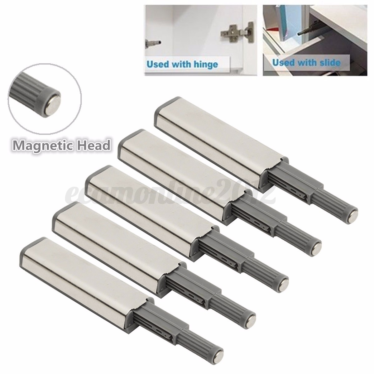 Kitchen cabinet door damper buffers soft close - Image Is Loading 5pcs Cabinet Door Drawer Push To Open System