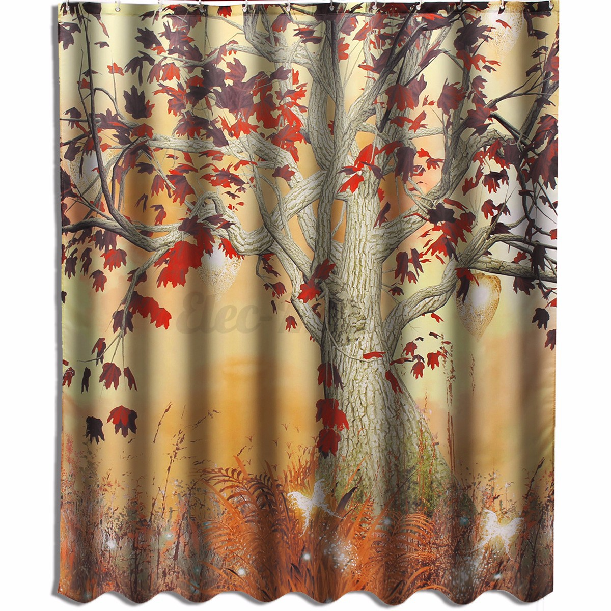 Old Twisted Tree Magical Butterflies Fabric SHOWER CURTAIN