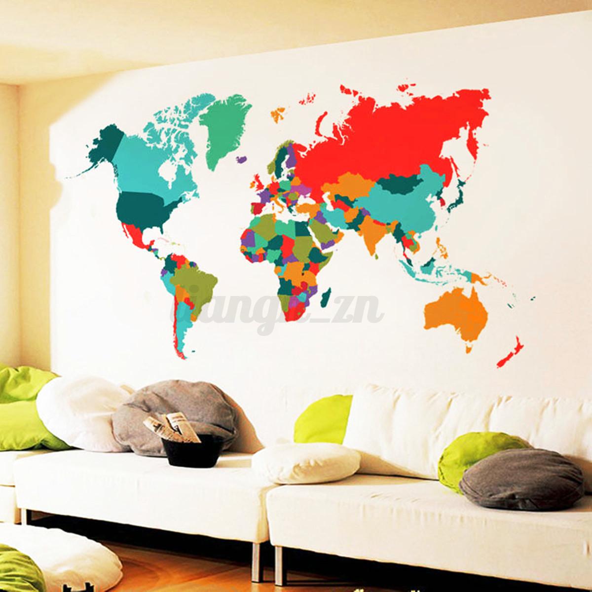 Amovible 3d stickers autocollant arbre murale muraux for Decoration chambre 3d