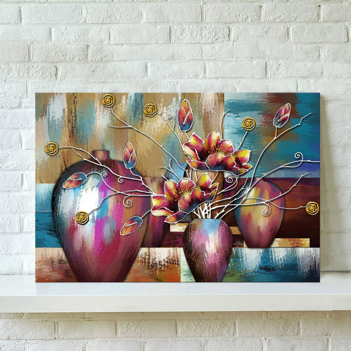 Living room canvas print wall art oil painting picture for Canvas mural painting