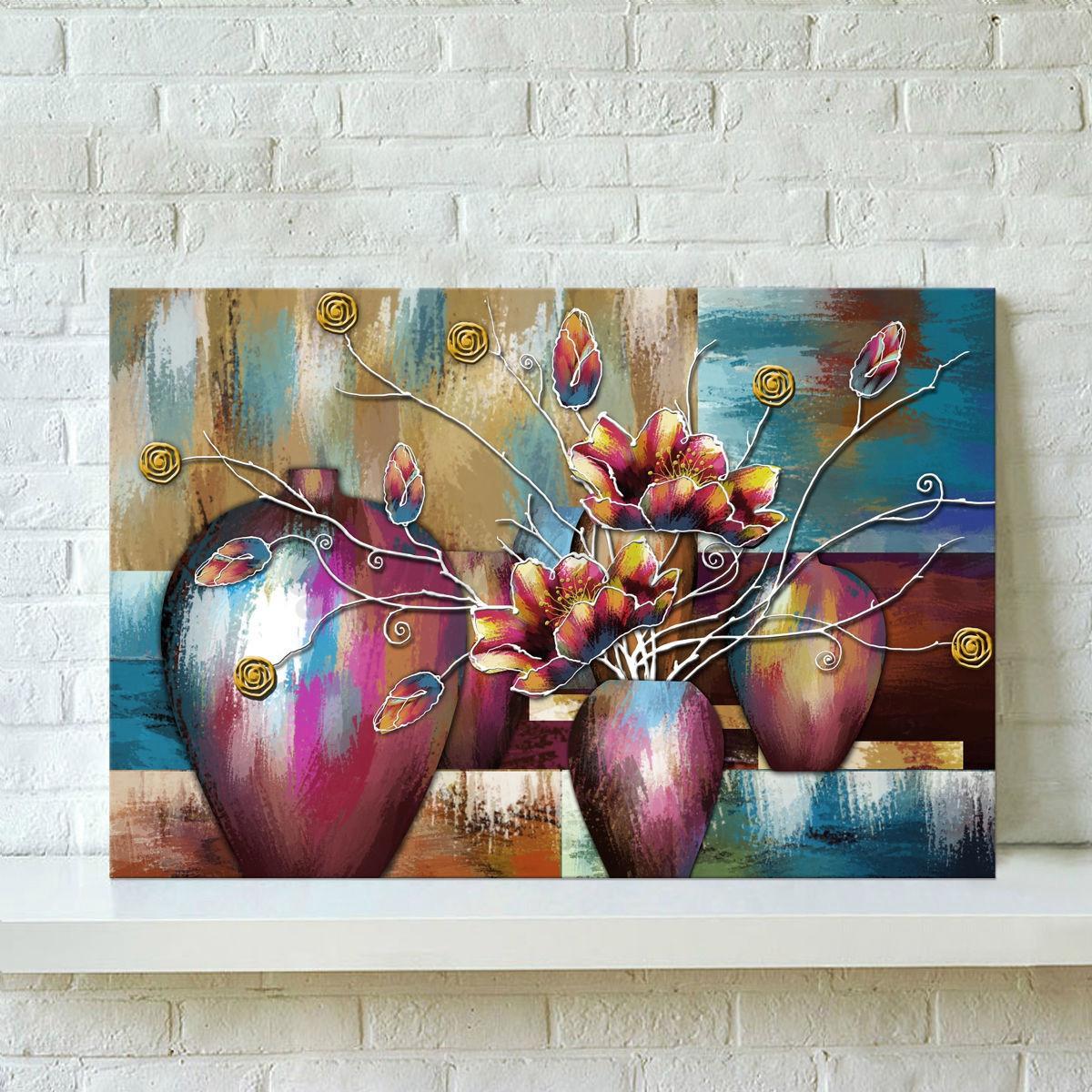 divers tableau peinture huile sur toile abstrait moderne art maison murale ebay. Black Bedroom Furniture Sets. Home Design Ideas