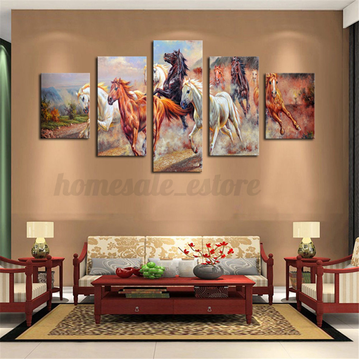 Modern abstract canvas print painting picture wall mural for Cd mural wall display