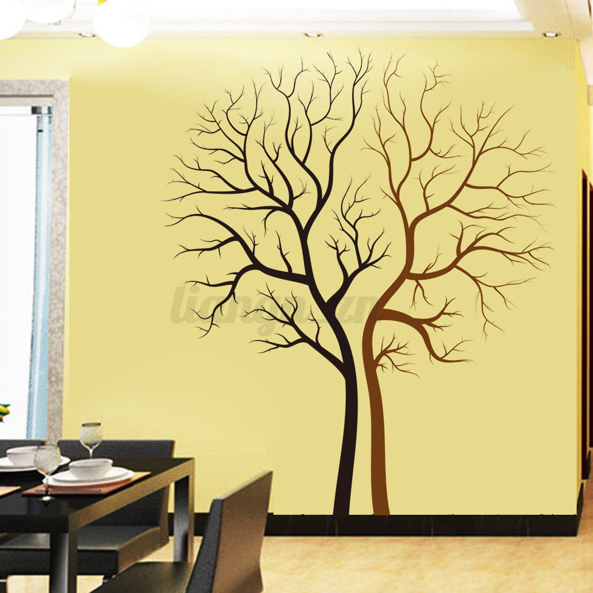 amovible 3d stickers autocollant arbre murale muraux d coration maison chambre ebay. Black Bedroom Furniture Sets. Home Design Ideas