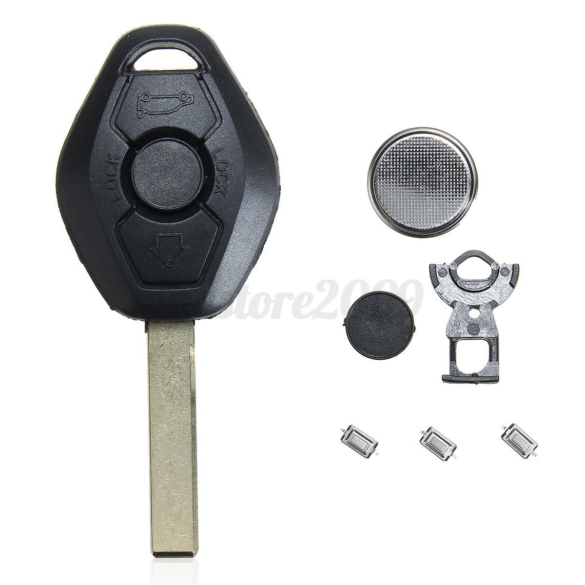 3 Buttons Remote Key Fob Case Micro Switch Battery Repair For Bmw E46 3 5 7 Z3 Ebay