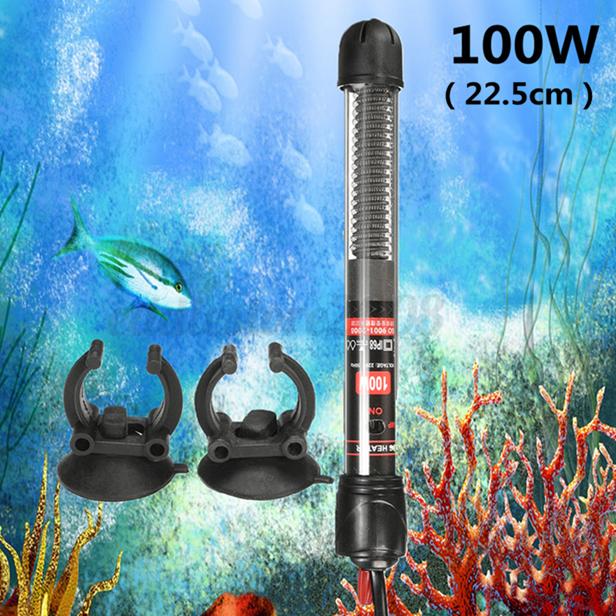 Aquarium Fish Tank Automatic Water Thermostat Heater Heating Rod Submersible Ebay