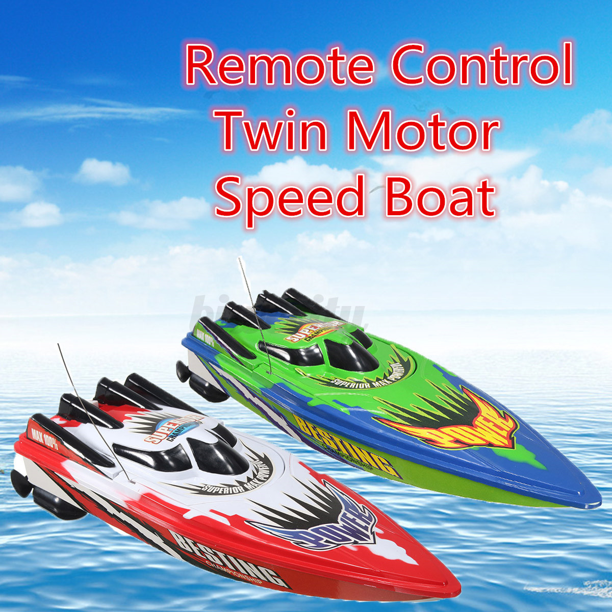 Red green high speed racing boat ship radio remote for Green boat and motor
