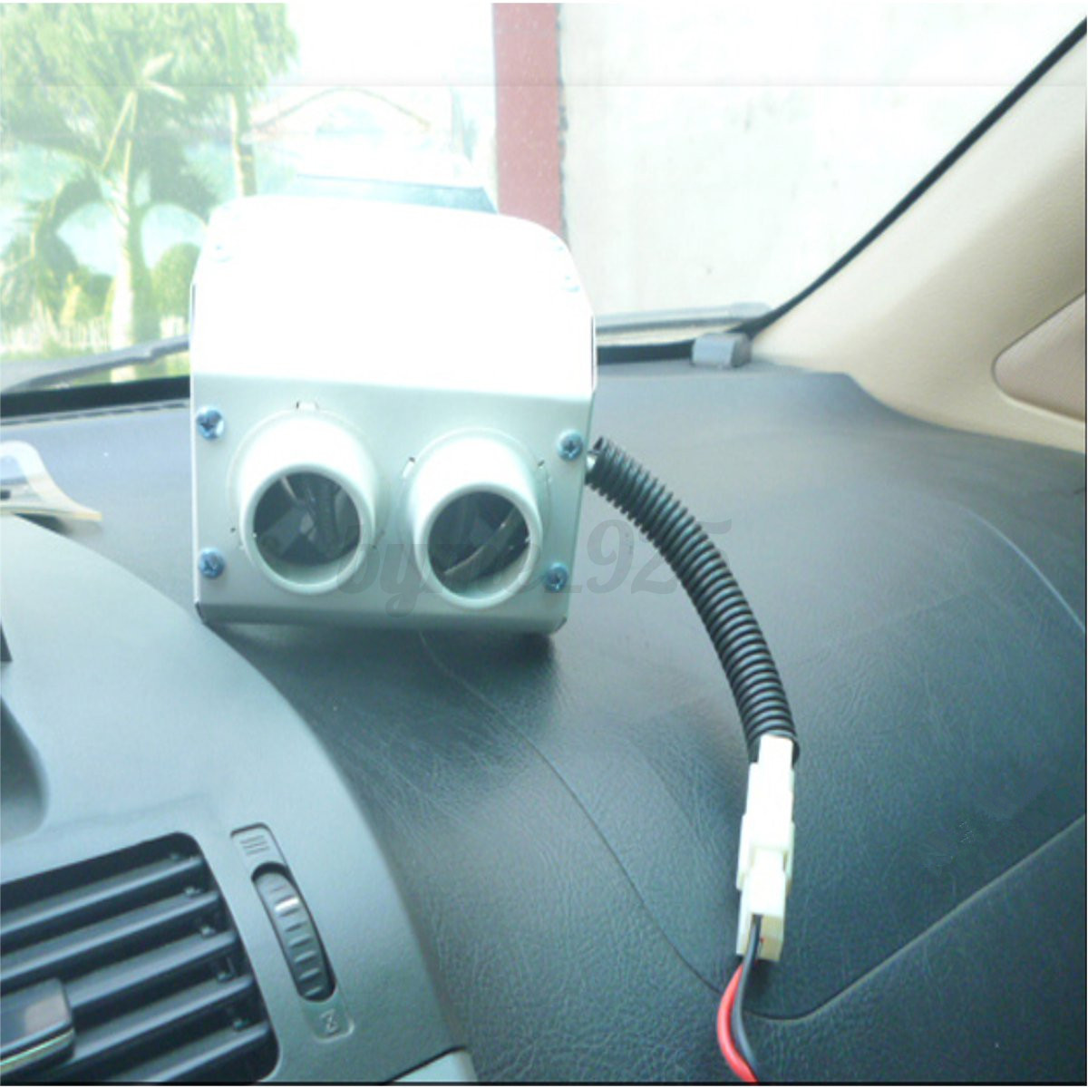 12v 300w double hole car heater warmer thermostat fan for 12v window defroster