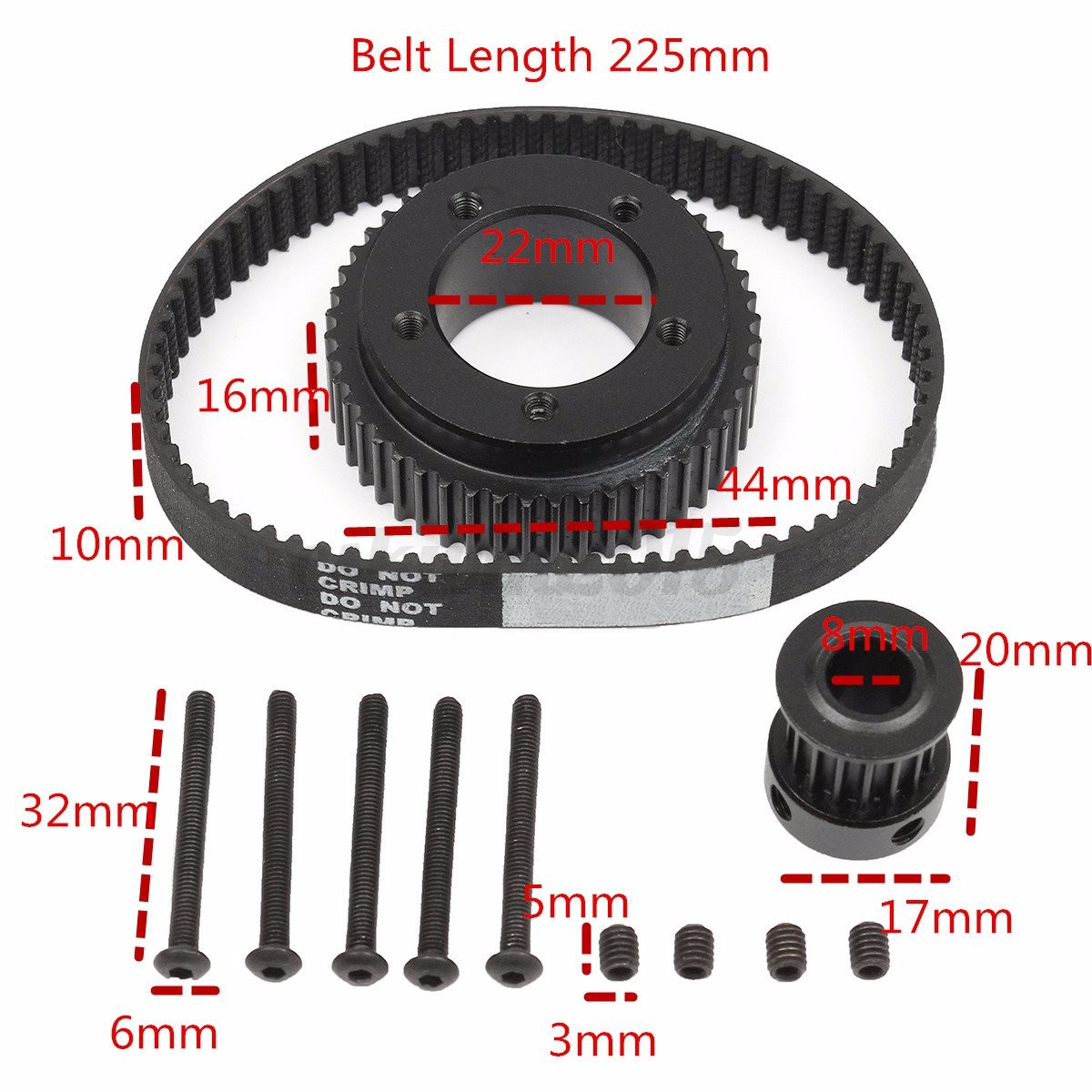 DIY-Electric-Skateboard-Flywheel-Pulley-Drive-Kit-10MM-Belt-For-72-70MM-Wheels thumbnail 6