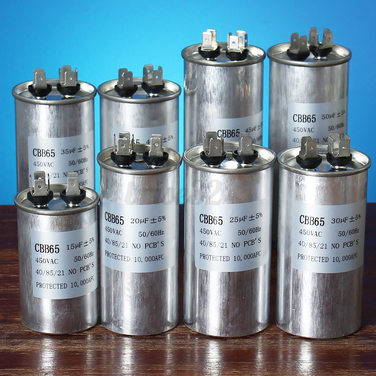 15 30uf cbb65 450vac motor capacitor air conditioner for Air conditioner compressor motor