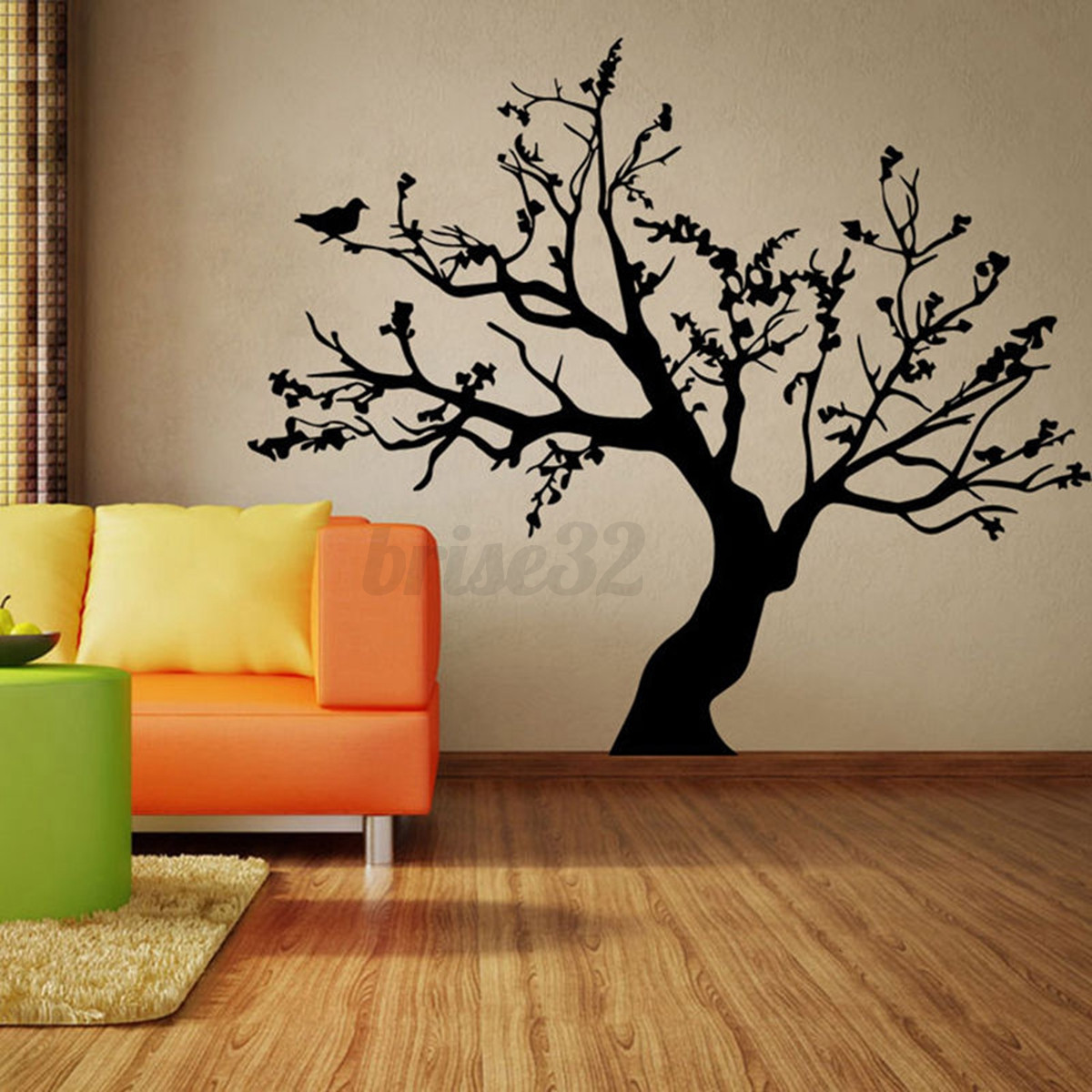 Large family tree diy decal paper art wall sticker home for Diy tree mural nursery