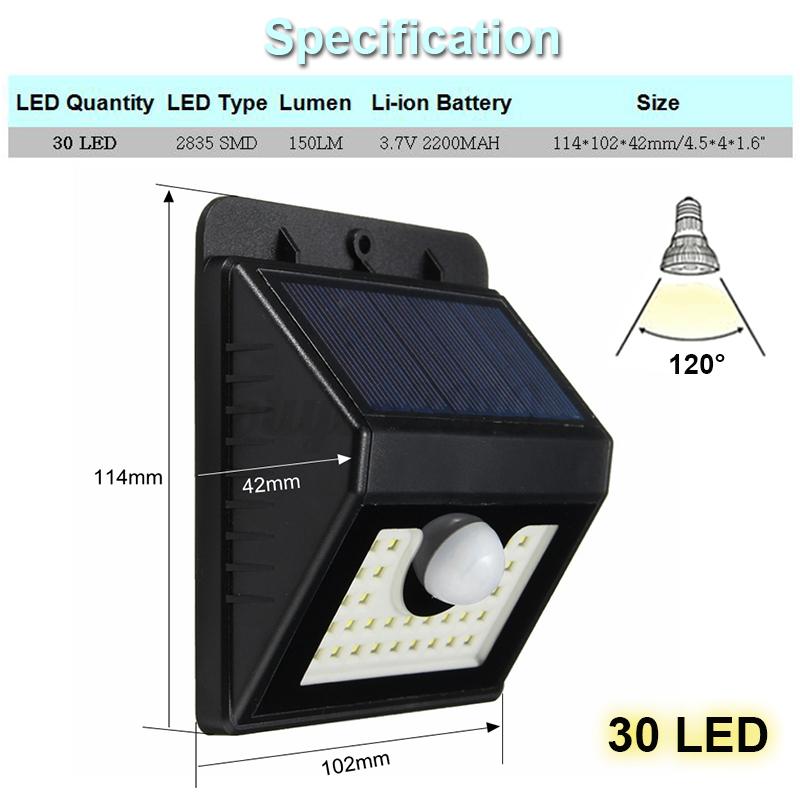 8 62 led solaire lampe capteur d tecteur pir mouvement - Lampe solaire detecteur mouvement exterieur ...