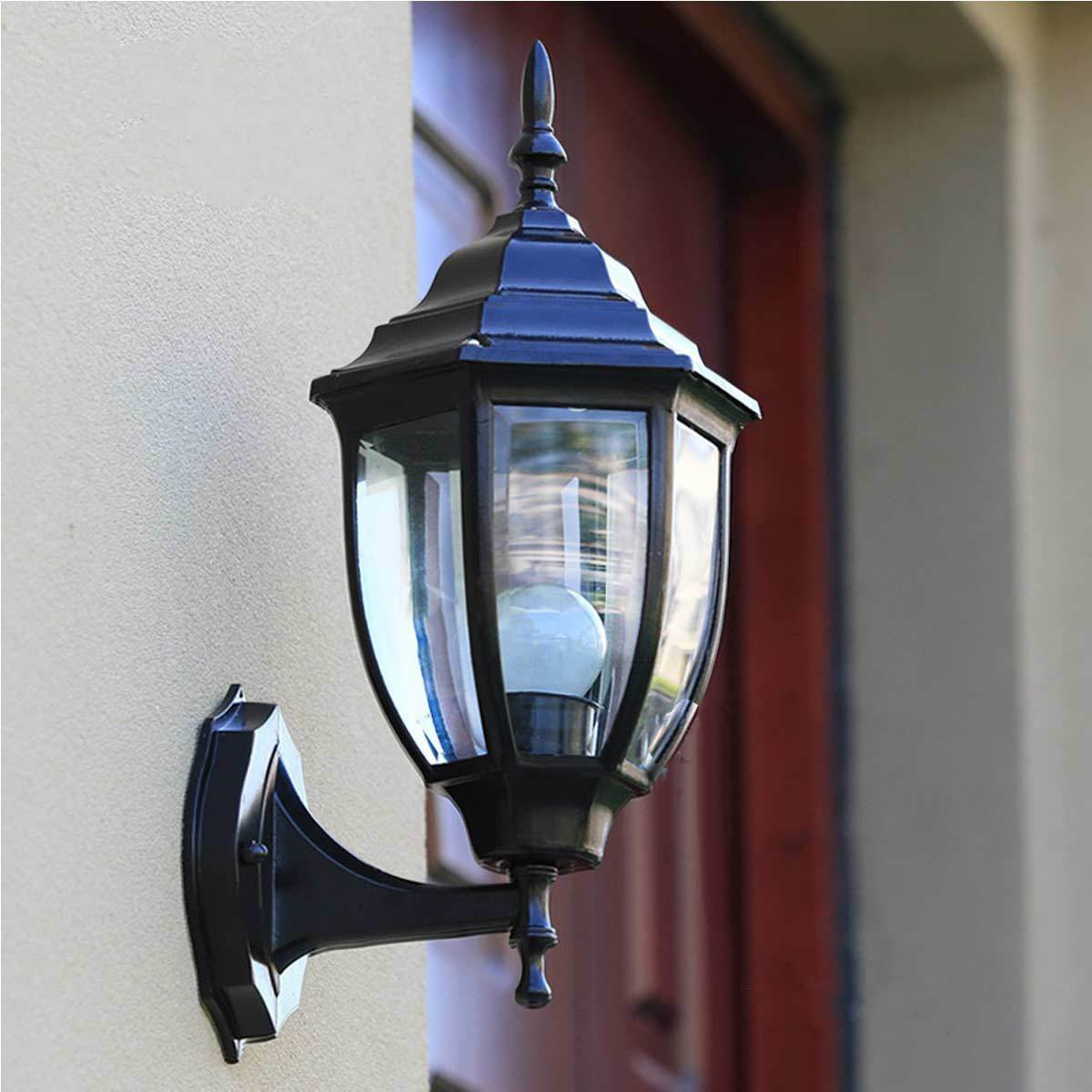 Retro yard outdoor garden lamp exterior lantern wall lighting sconce aluminum ebay for Exterior light sconce