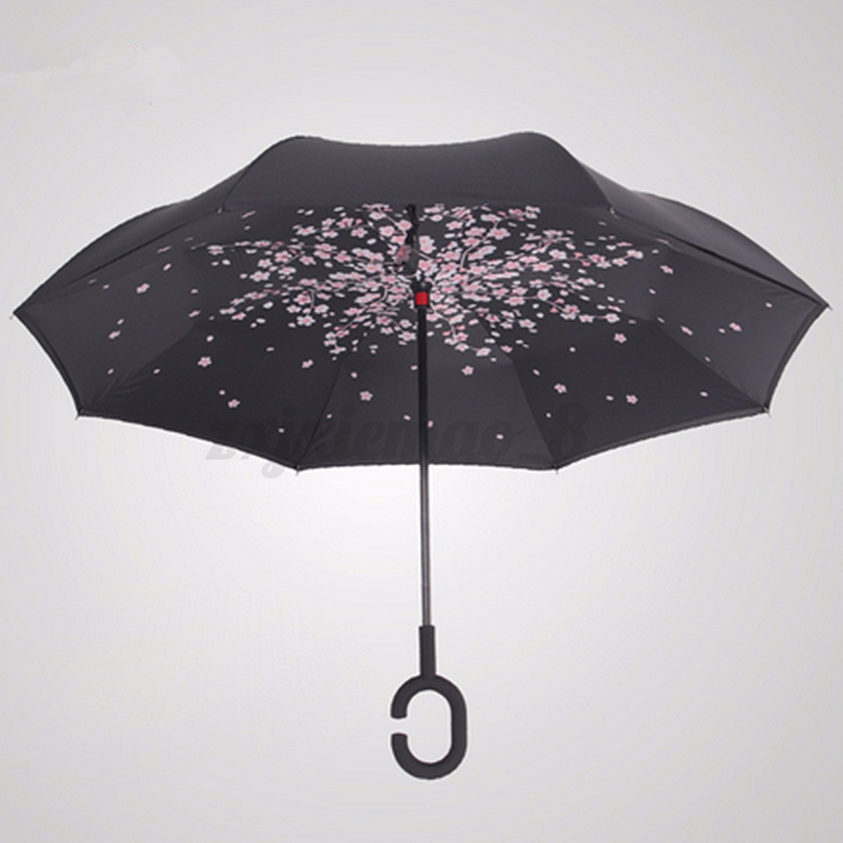 Windproof Upside Down Double Layer Reverse Umbrella C