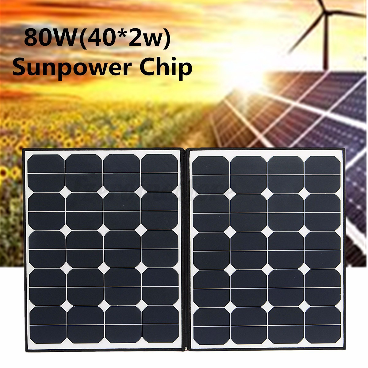 80 100 120 160w Folding Solar Panel Battery Charger For