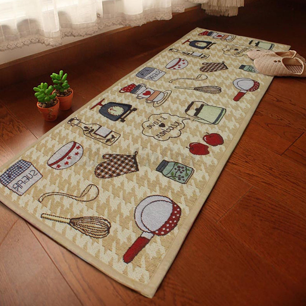 Washable Hall Rugs: 235cm Jacquard Non Slip Rug Kitchen Bedroom Floor Mats