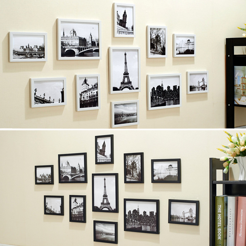 Photo Frames For Home Decor: 11Pcs Wall Hanging Photo Frame Set Family Picture Display