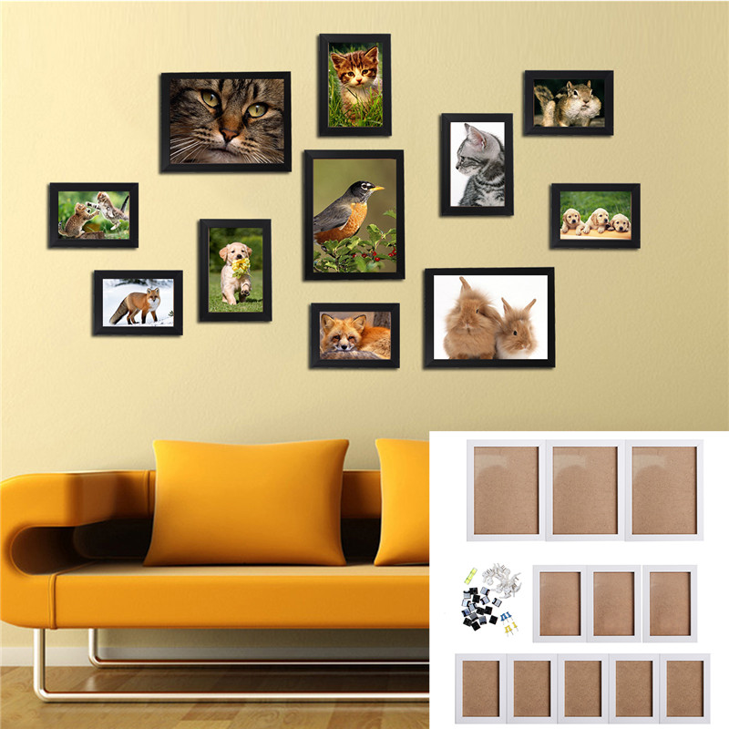 Modern Family Wall Decor : Pcs wall hanging photo frame set family picture display