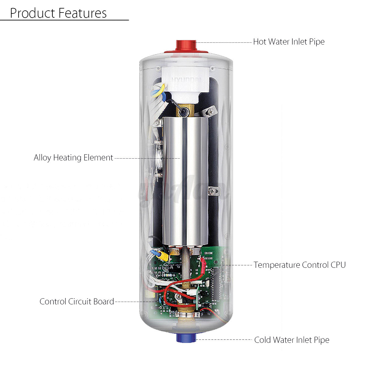 5500w instant electric hot water tankless kitchen bathroom for 5 bathroom tankless water heater