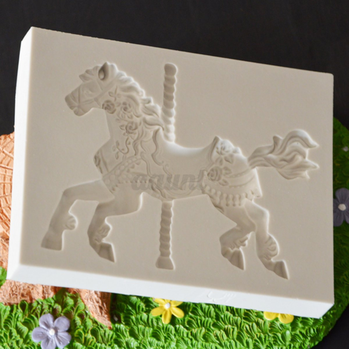 Cake Decorating Horse Mould : Silicone Carousel Horse Fondant Mold Cake Decorating ...