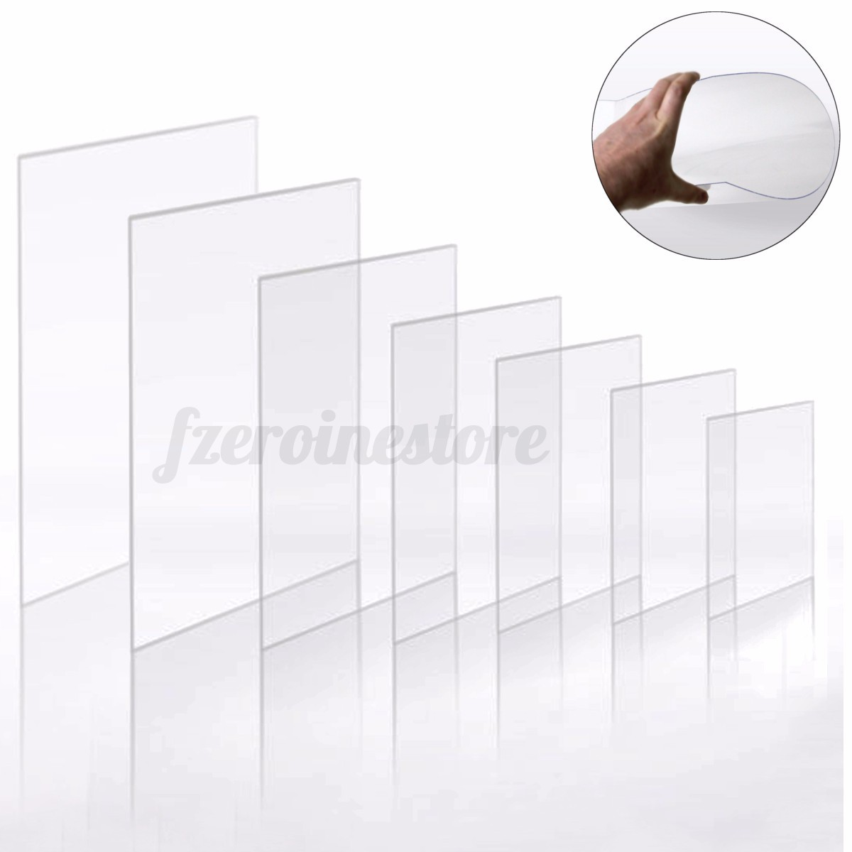 Clear acrylic perspex flexi sheet thick crafts arts for Clear plastic sheets for crafts