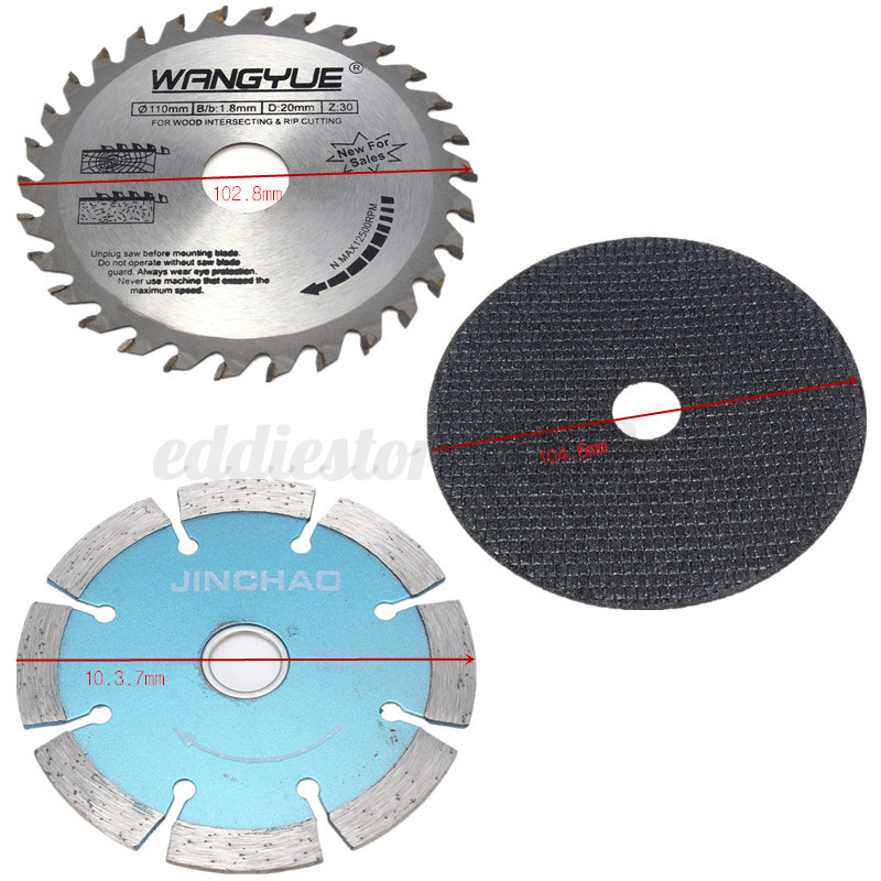 Hand Grinder Blades ~ Pcs cutting accessories saw blades wrench for hand drill